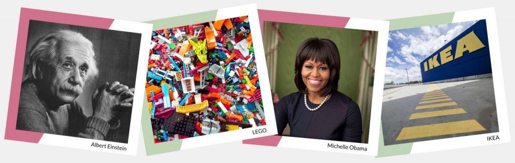 Superheldenkaarten (Einstein, LEGO, Michelle Obama, IKEA)