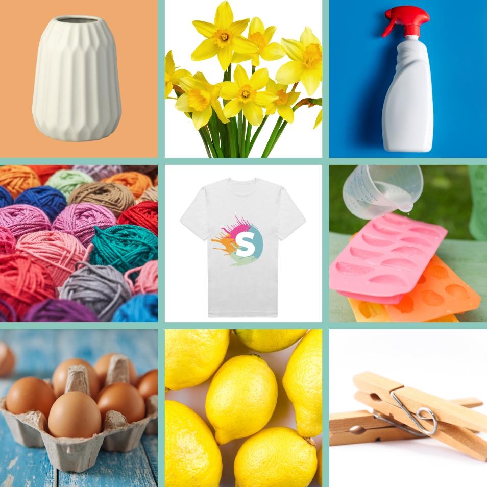 Bingokaart met lente items, leuke energizer