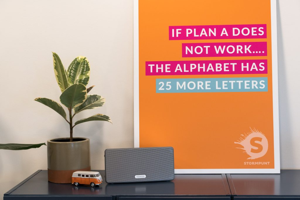 If plan A does not work, the alphabet has 25 more letters